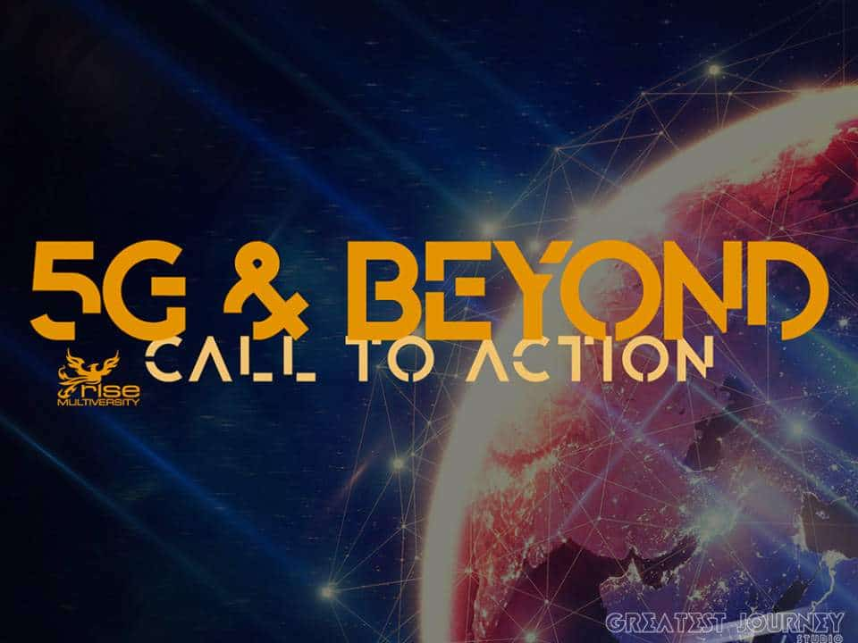 5G Call To Action, Logo, Rise Multiversity